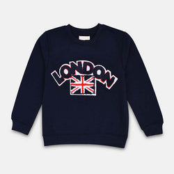 Mango Navy Blue London Sweatshirt 844