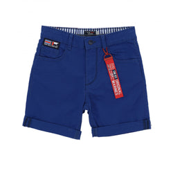 OM Sailor Man Royal Blue Cotton Shorts 1696
