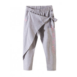 L&S Side Bow Run the World  Grey Trouser 1079