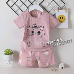 2 Piece set Caturday Tea Pink 1706