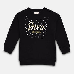 Mango Black And White Dots Diva Sweatshirt 849
