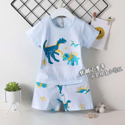 2 Piece set Different Dinosaurs Poweder Blue 1712