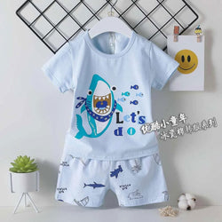 2 Piece set Lets Do Shark Light Blue 1704
