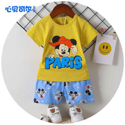 2 Piece set Mickey Mouse Paris Mustard 1710
