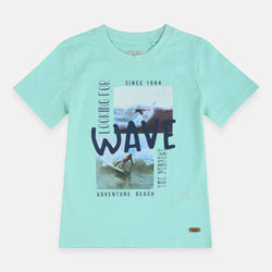 Ymp Adventure Beach Wave Aqua Blue Tshirt 1684