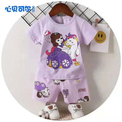 2 Piece set Cinderella Unicorn Lavender 1705