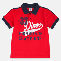 Ilus Roivas Dodge Ball League Red Polo 2030