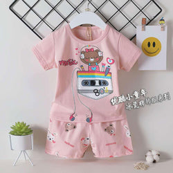 2 Pieces set Bear Music Pink 1701