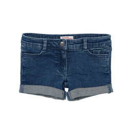 Du Pr Heart Button Girls Denim Shorts 1692