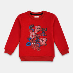 Mango Red Spider Man Sweatshirt 836