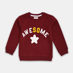 Mango Maroon Awesome Star Sweatshirt 837