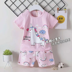 2 Piece set Rainbow Unicorn Pink 1703