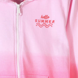 L&S Pink and Pink Hello Summer Hoodie 701