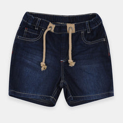 Original Marines Contrast Cord Dark Blue Denim Shorts 1403