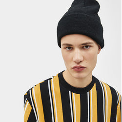 Bershka Black Mustard Stripe Sweatshirt (Label Cut) 509