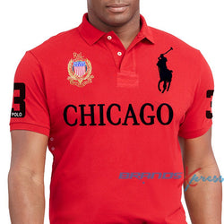 Ralph Lauren Men Big Pony Chicago Red Polo