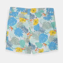 Original Marines Palm Leaves Multi Color Cotton Shorts 1395