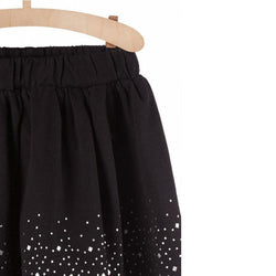 5.10.15 Silver Bottom Dots Black Skirt 1730