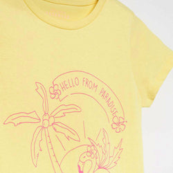 Reserved Hello From Paradise Yellow Tshirt 1511