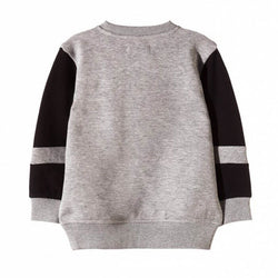 5.10.15 Color Panels Grey Sweatshirt With Yellow Stripes 865