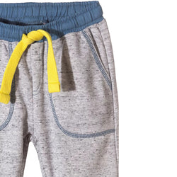 5.10.15 Contrast Thread Grey Trouser with Yellow Cord 993