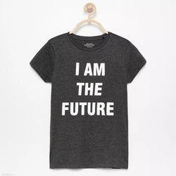 Resreved I am the Future Charcoal Tshirt 1510