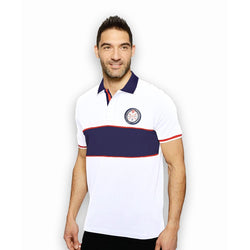 US Polo Assn. White Polo with Blue Collar