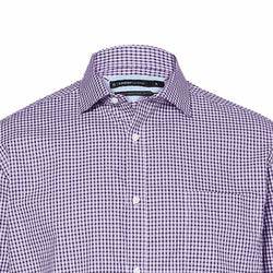 TARGET Men's Maroon Check Limited Editions Australian Cotton Shirt