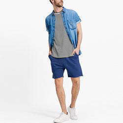 Stradivarious Knit Bermuda Shorts Blue