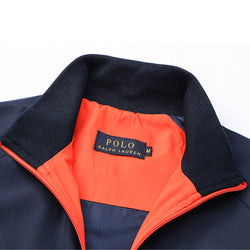 Ralph Lauren Big Pony Polo Sport Wind Breaker Navy Blue with Orange #2011