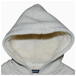 Okaidi Quilted Furr Hoodie Off White 388