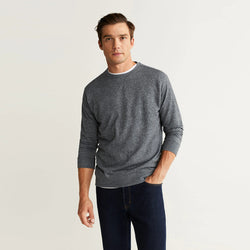 Mango Flecked Textured Grey Sweatshirt 616