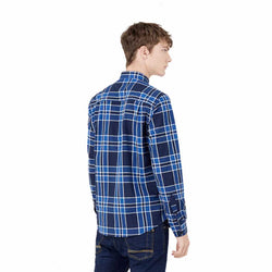Springfield Check Shirt Navy Blue