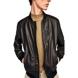 Zara Man Zip Bomber Jacket Black