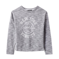 Terranova Brooklyn Light Grey Texture Sweat Shirt