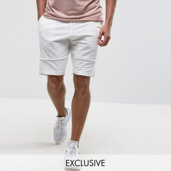 Brooklyn Supply Co Jersey Shorts White