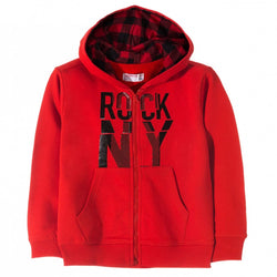 L&S Rock NY Red Hoodie 656