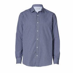 TARGET Australia Tailored Fit Navy Blue Check Shirt