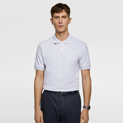 Zara Essentials Grey Polo Shirt