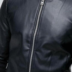Pull & Bear Black Leather Bomber Jacket Original