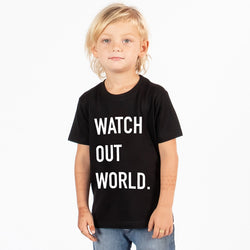 Dymples Watch Out World Black Tshirt