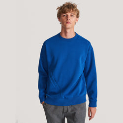 RESERVED Organic Cross Pocket Blue Sweatshirt 607