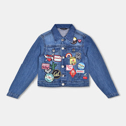 Matalan Patch Blue Denim Jacket 493