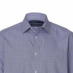 TARGET Men's Navy Jacquard Limited Editions Australian Cotton Shirt