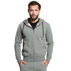 Diverse Men's Grey Zipper With Hoodies