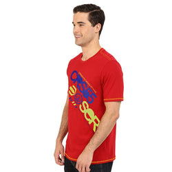 Cross Hatch Cherry Red Printed TShirt #107
