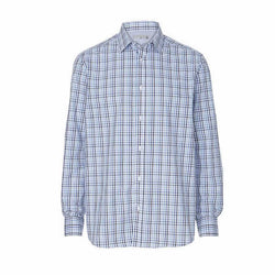 TARGET Men's Blue Tailored Fit Tattersal Check Shirt