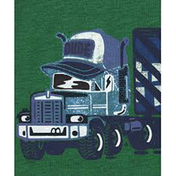 Mother Care Green Dude Truck Printed Shirt 534