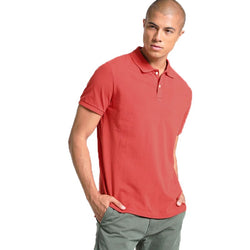 GAP Solid Crimson Red Pique Polo Shirt (Label Removed)