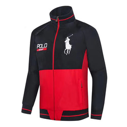 Ralph Lauren Big Pony Polo Sport Wind Breaker Black with Red #2286